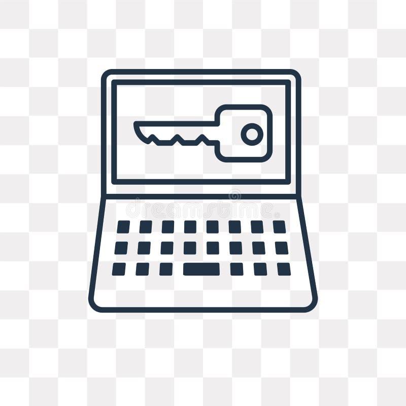 Zamknięta wektorowa ikona odizolowywająca na przejrzystym tle, liniowy Lo ilustracja wektor