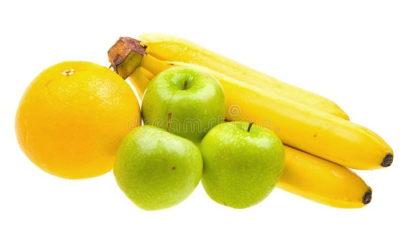 zamknięte świeże owoc odizolowywali w górę biel obrazy royalty free