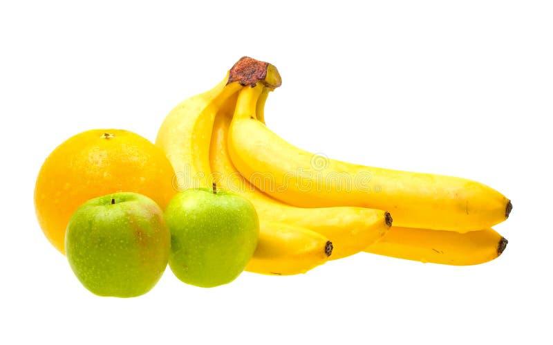 zamknięte świeże owoc odizolowywali w górę biel zdjęcie stock