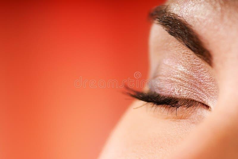 zamknięte oczy obrazy stock