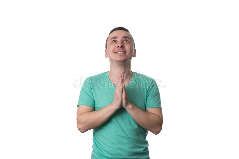 zamknięte ręki obsługują modlenie zdjęcie royalty free