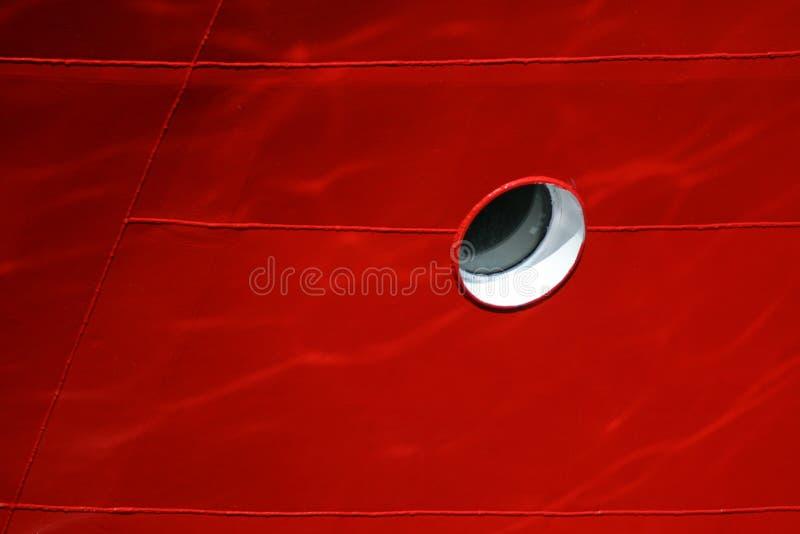 zamkniętej dziury czerwony statek czerwony fotografia royalty free