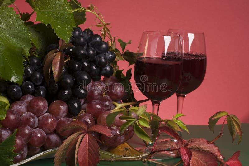 zamkniętej gronowej czerwieni gronowy wino zdjęcia stock