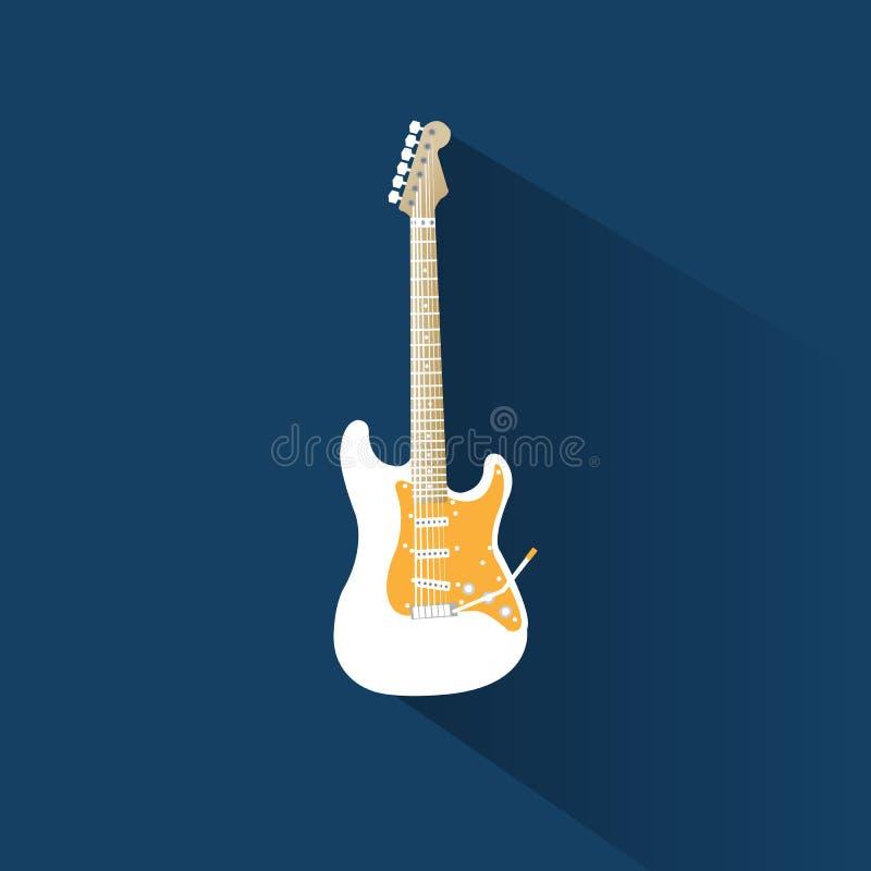 zamkniętej tła gitary odizolowany, białe zdjęcie royalty free