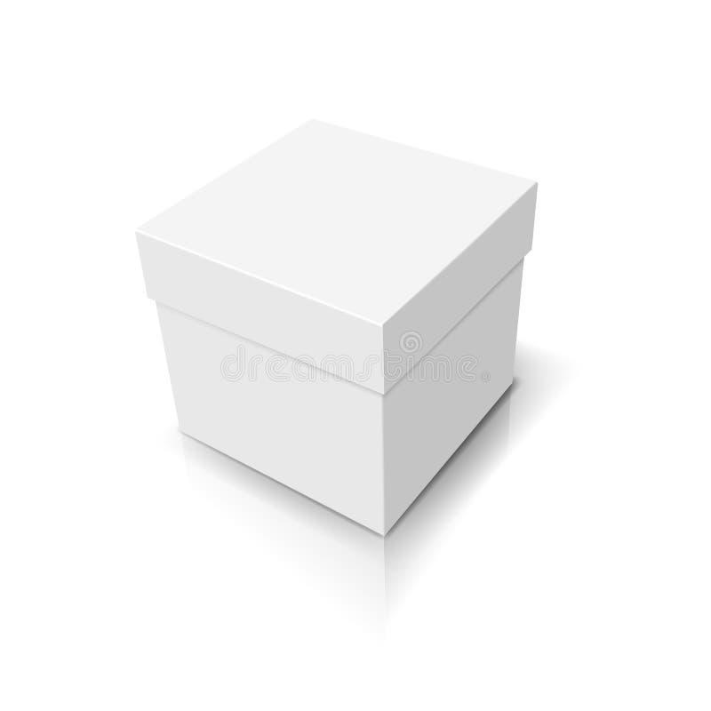Zamknięty biały pudełko ilustracja wektor