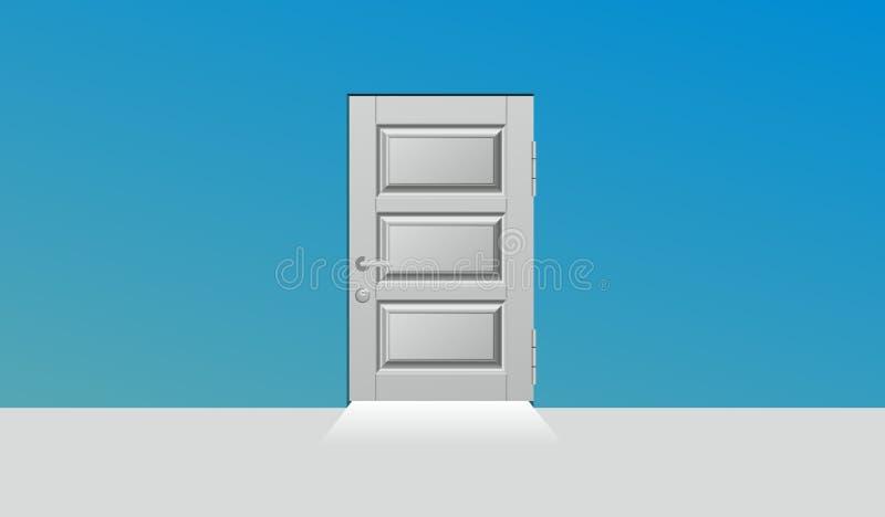 Zamknięty drzwi royalty ilustracja