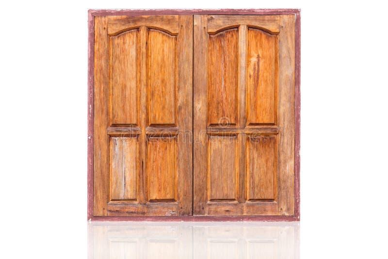 Zamknięty dwa panel azjata drewniany nadokienny styl zdjęcia royalty free
