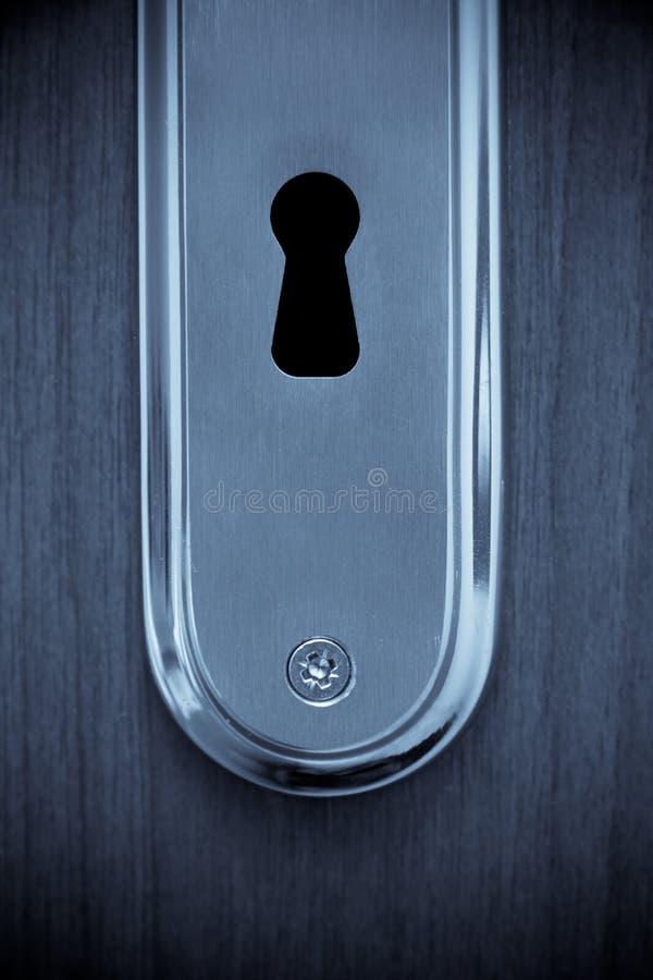 zamknięty keyhole obraz royalty free
