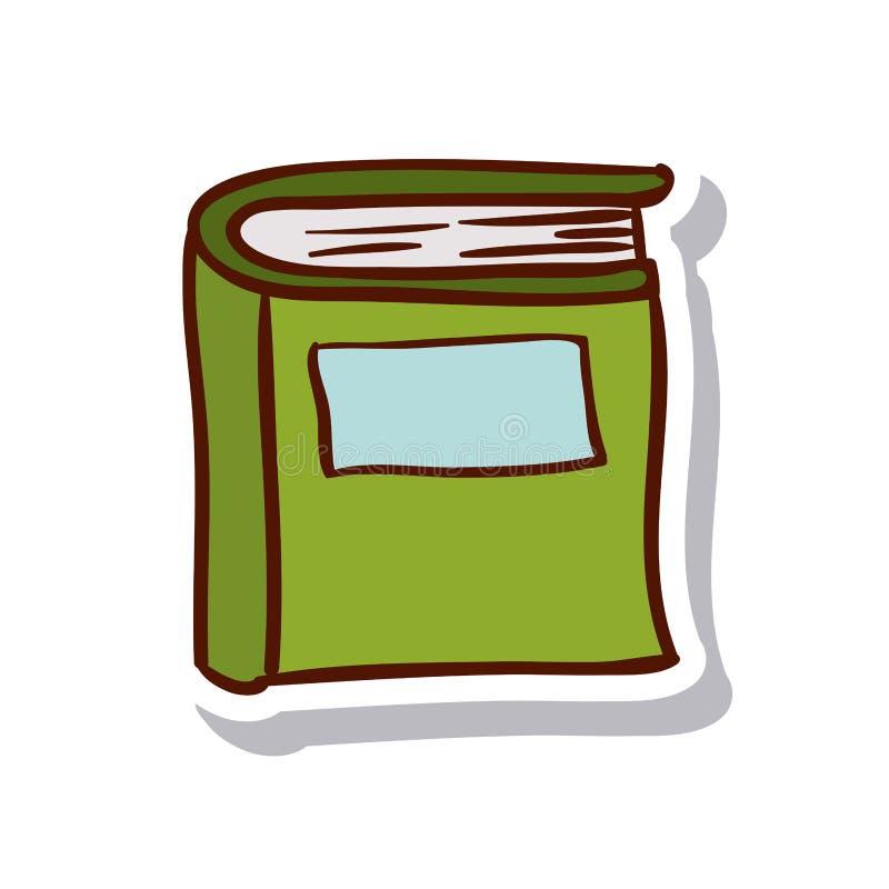 Zamknięty książki i literatury projekt ilustracji