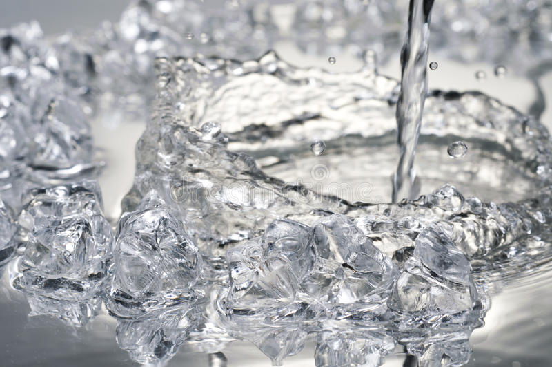 zamknięty lód składa widok w górę widok fotografia royalty free
