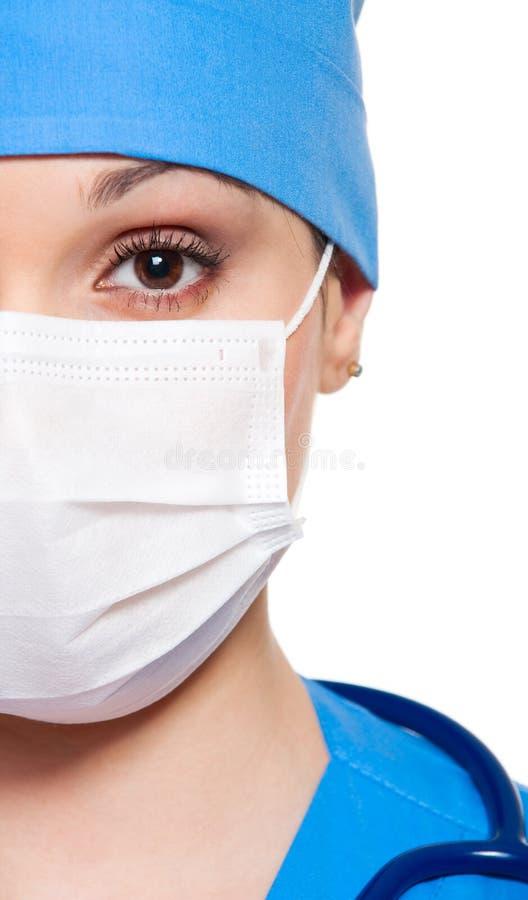 zamknięty pielęgniarka zamknięty portret zdjęcie stock