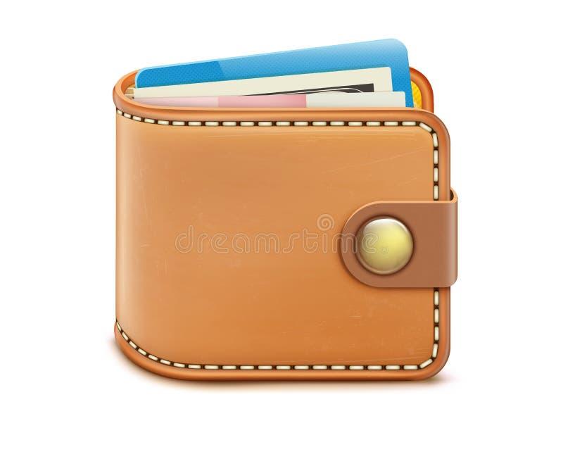 zamknięty portfel ilustracji