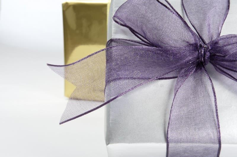 zamknięty prezenta pudełkowaty zamknięty faborek obrazy royalty free
