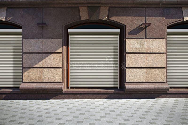 Zamknięty przedstawienia okno sklep zdjęcia stock