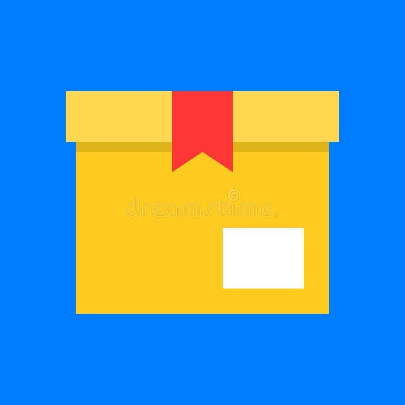 Zamknięty pudełko i dekiel, płaski ikona projekta piksel doskonalić ilustracji