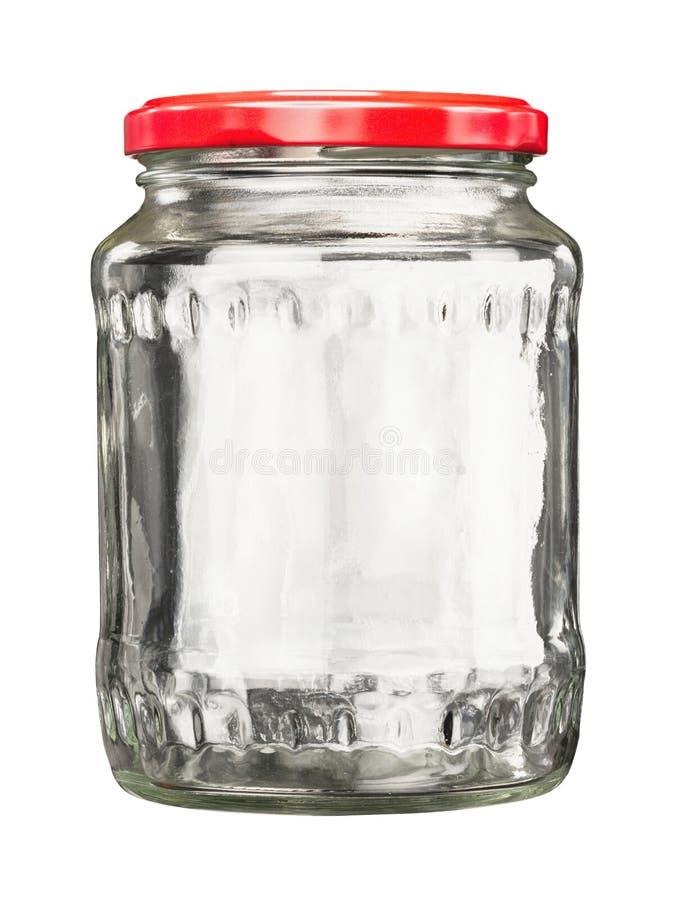 Zamknięty szklany słój z deklem obraz royalty free