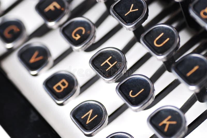 zamknięty typewirter obraz stock
