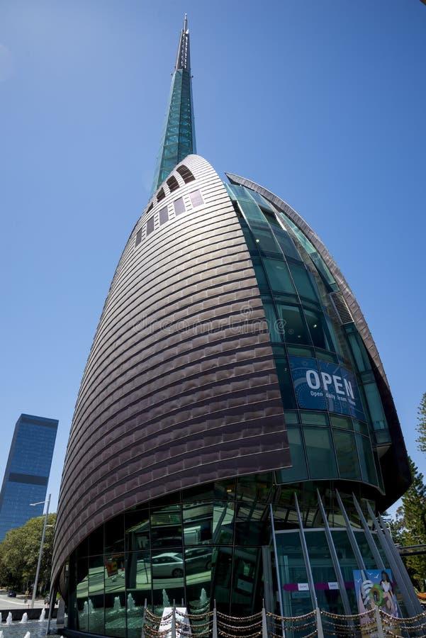 Zamknięty widok Łabędzi Dzwonów wierza w Perth mieście zdjęcia royalty free