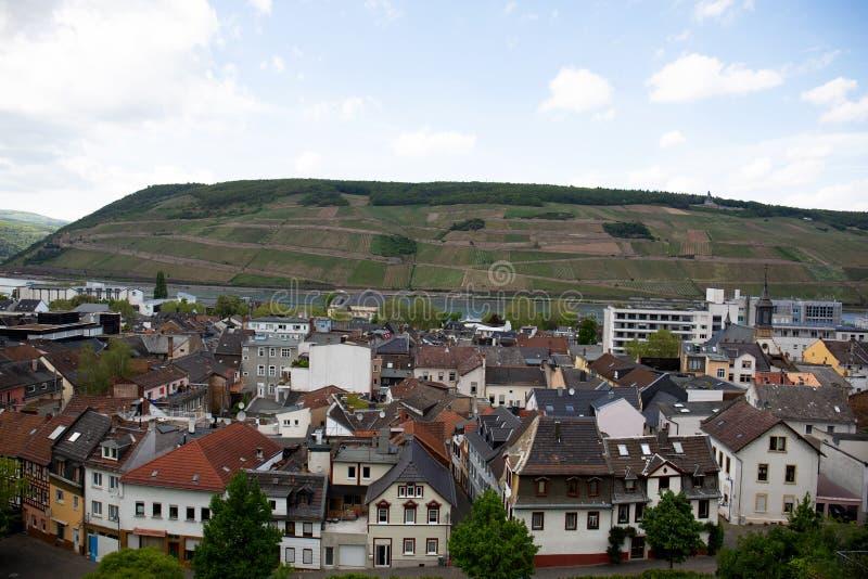 Zamknięty widok na budynek powierzchowności w bingen jest główny w Hessen Germany obrazy stock