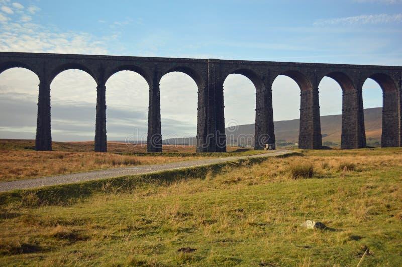 Zamknięty widok Ribblehead wiadukt zdjęcie royalty free