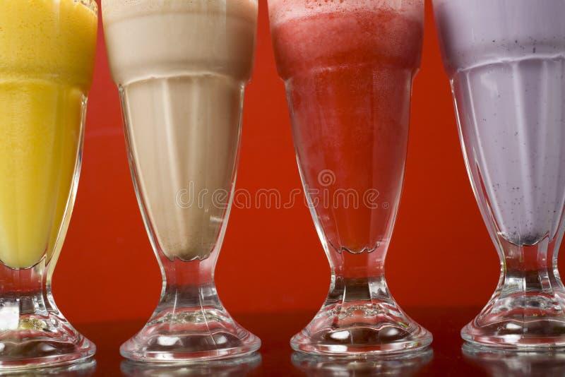 zamknięty zamknięci milkshakes fotografia stock