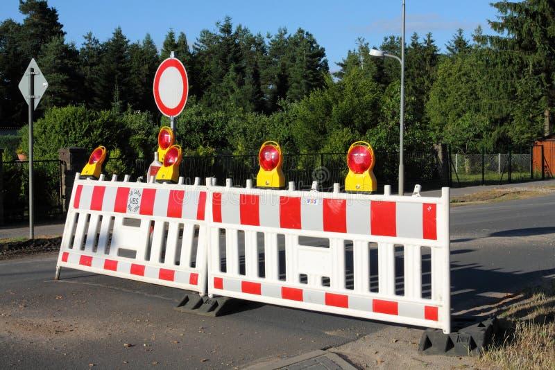 Zamkni?ta ulica w Niemcy zdjęcie stock