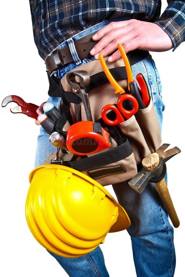 zamknij odizolowanych narzędzia do pracownika, fotografia stock
