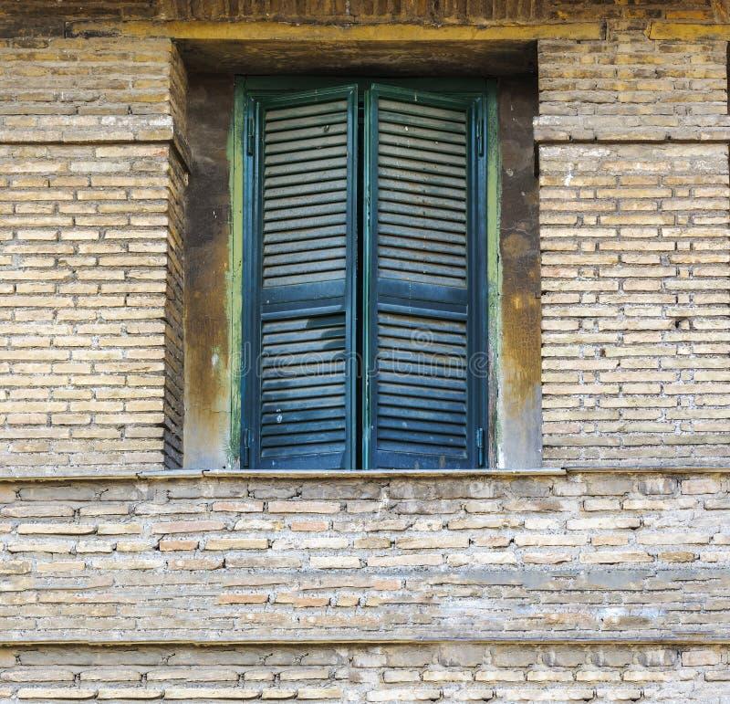 zamknij okno green fotografia stock