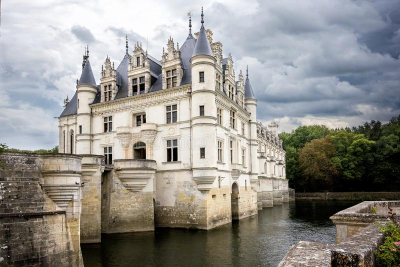 zamku de France chenonceau Loire valley obraz royalty free