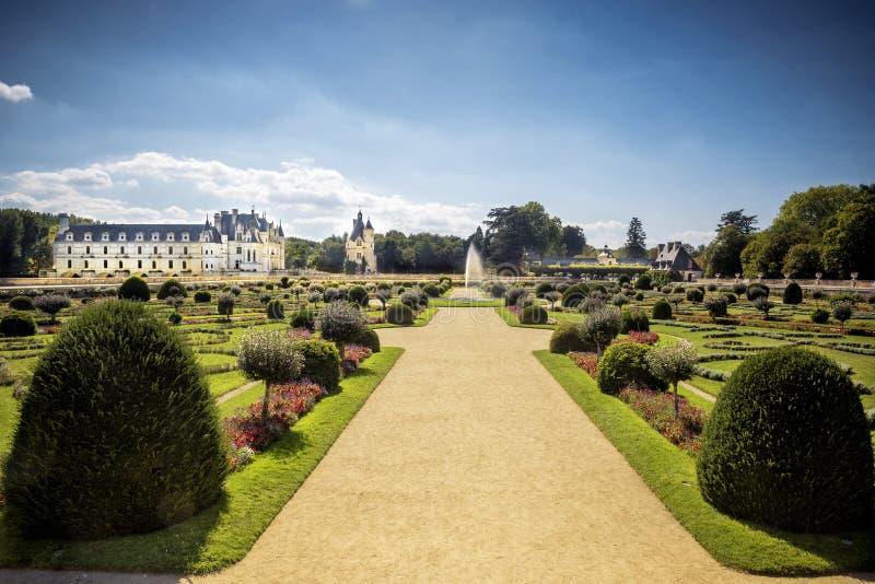 zamku de France chenonceau Loire valley zdjęcie stock