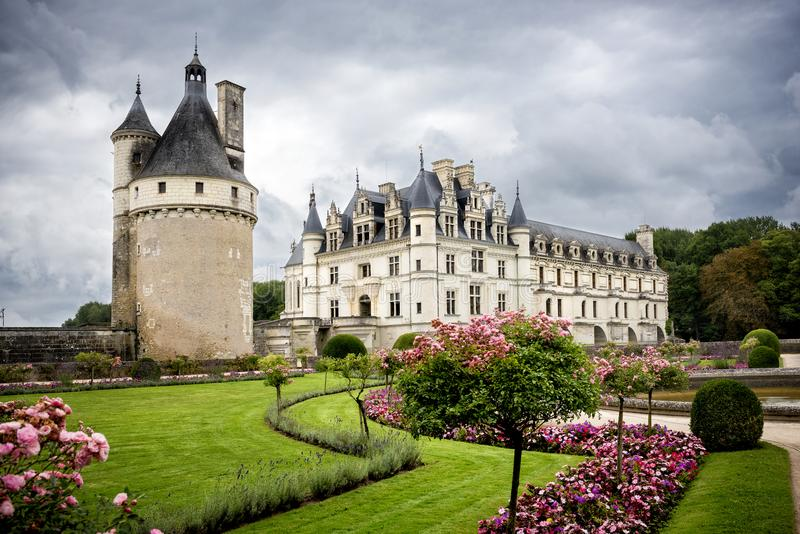 zamku de France chenonceau Loire valley fotografia stock