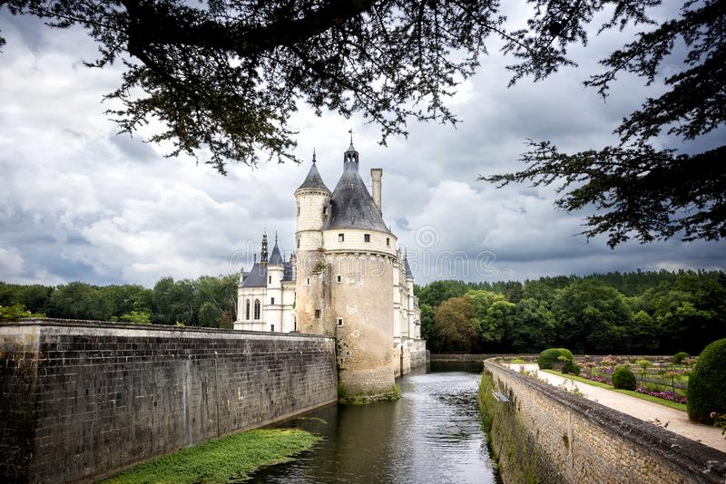 zamku de France chenonceau Loire valley obrazy stock
