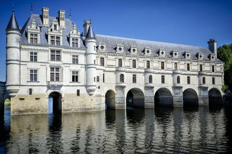 zamku de France chenonceau Loire valley zdjęcie royalty free