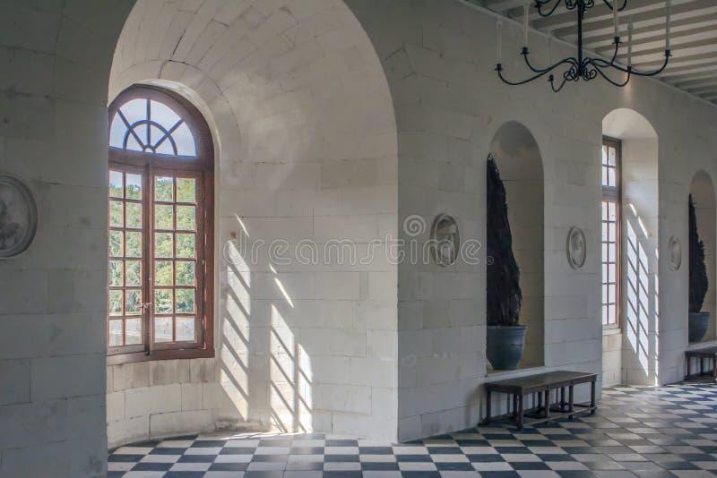 zamku de France chenonceau Loire valley zdjęcia royalty free