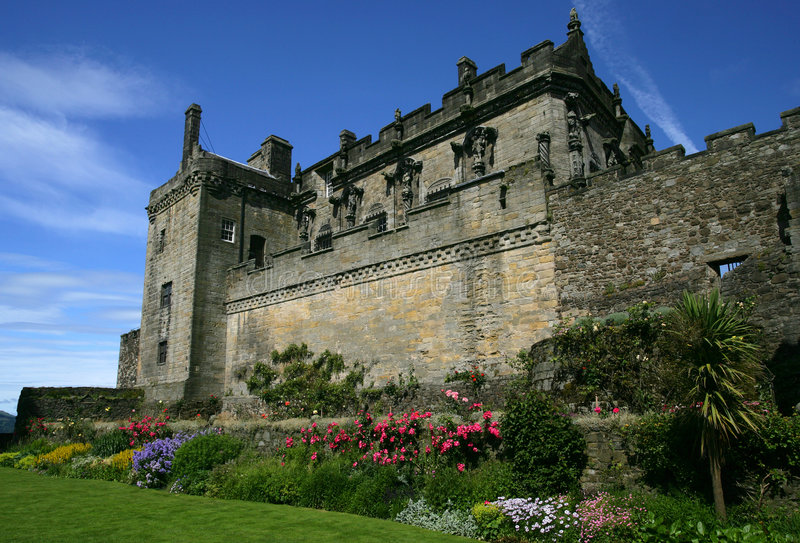 zamku Stirling obraz royalty free