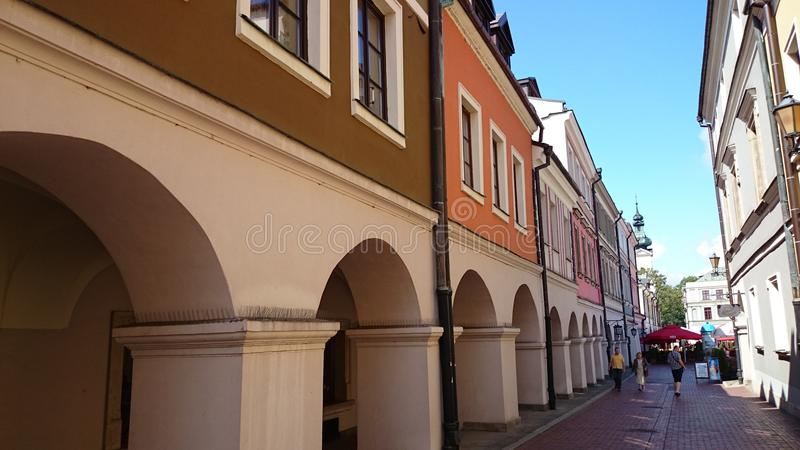 Zamość old town. The Old Town stock photo