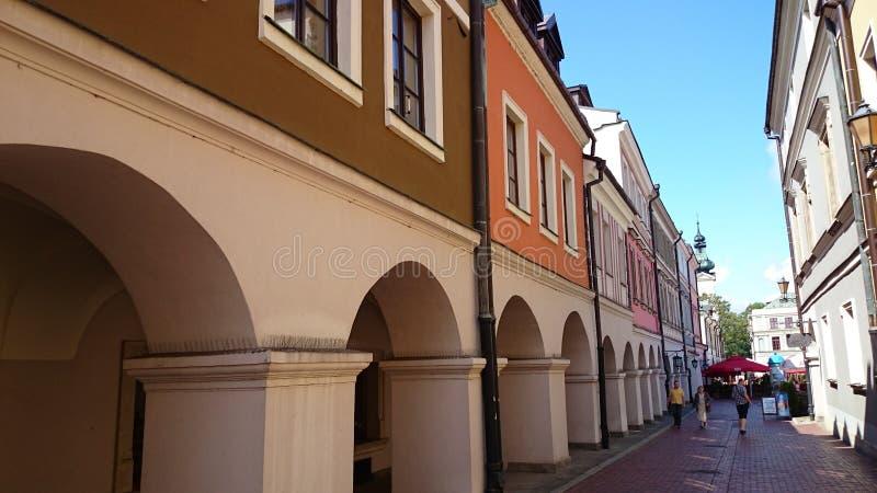 ZamoÅ› Ä ‡ stary miasteczko zdjęcie stock