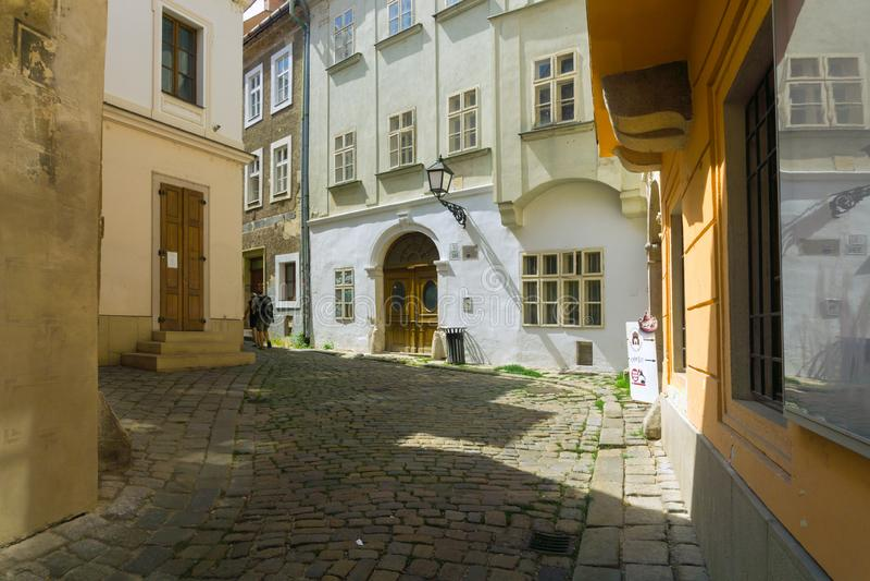 Zamocnicka ulica street at Bratislava royalty free stock photos