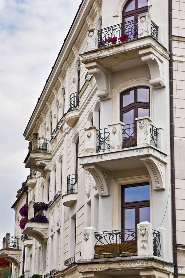 Zamojski Polska, Lipiec 2019, stara grodzka architektura obraz stock