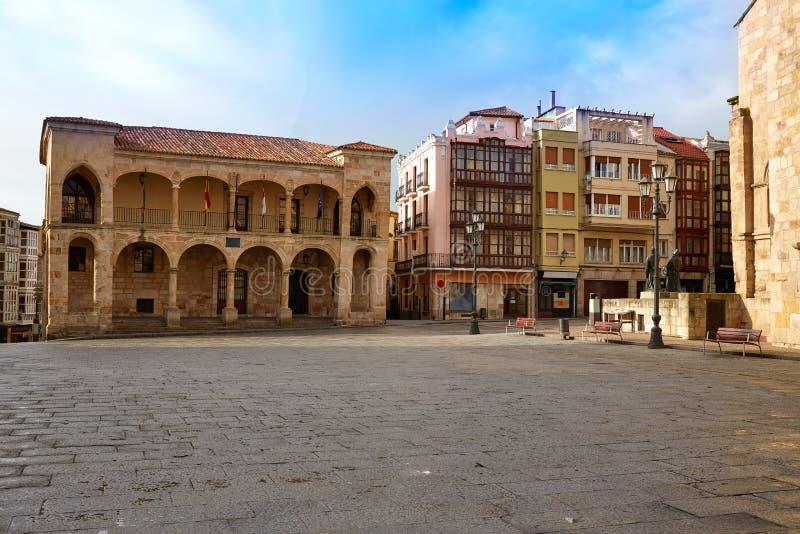 Zamora-Piazza-Bürgermeister bei Spanien stockfotografie