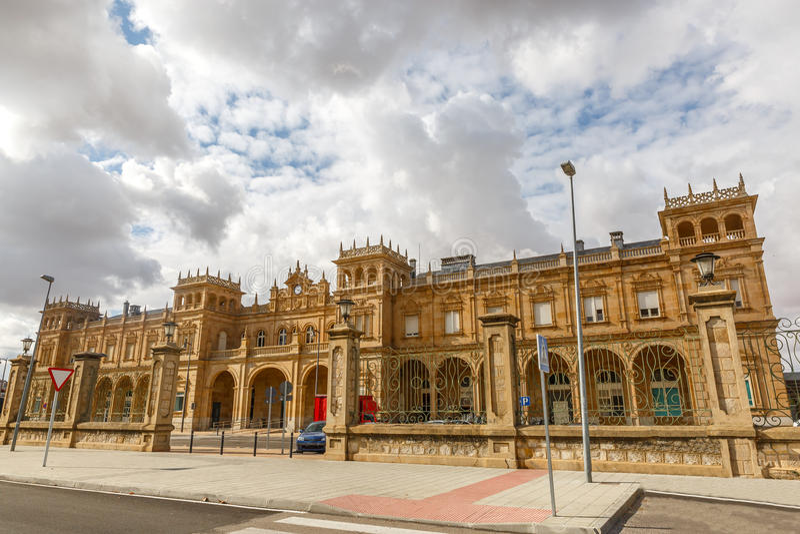 Zamora station, Spanje royalty-vrije stock afbeelding