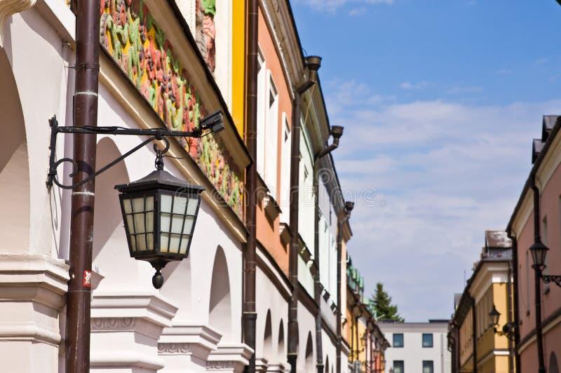 Zamosc Πολωνία, τον Ιούλιο του 2019, παλαιά πόλης αρχιτεκτονική στοκ φωτογραφία με δικαίωμα ελεύθερης χρήσης
