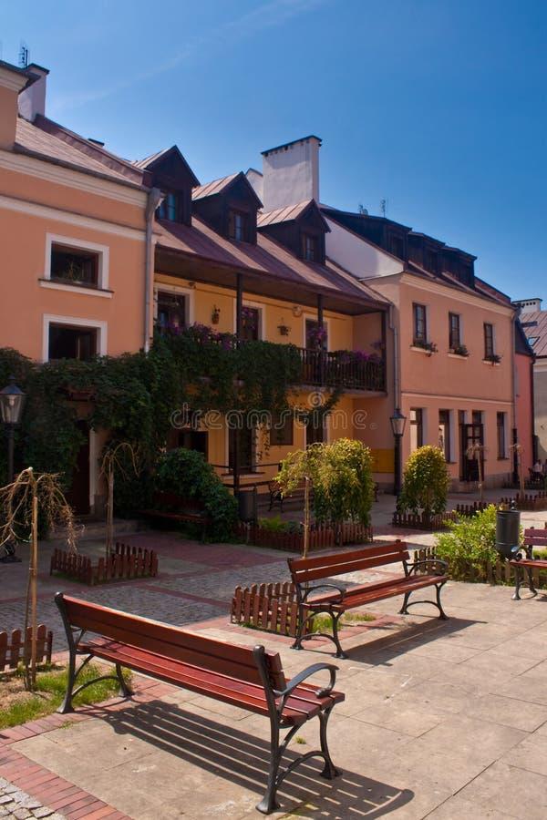 zamosc городка города старое стоковые изображения