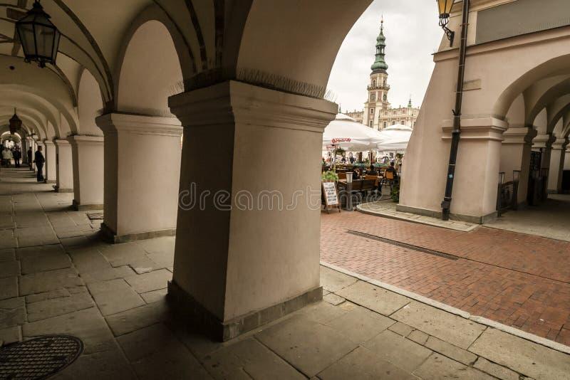 Zamosc - città di rinascita in Europa centrale immagini stock