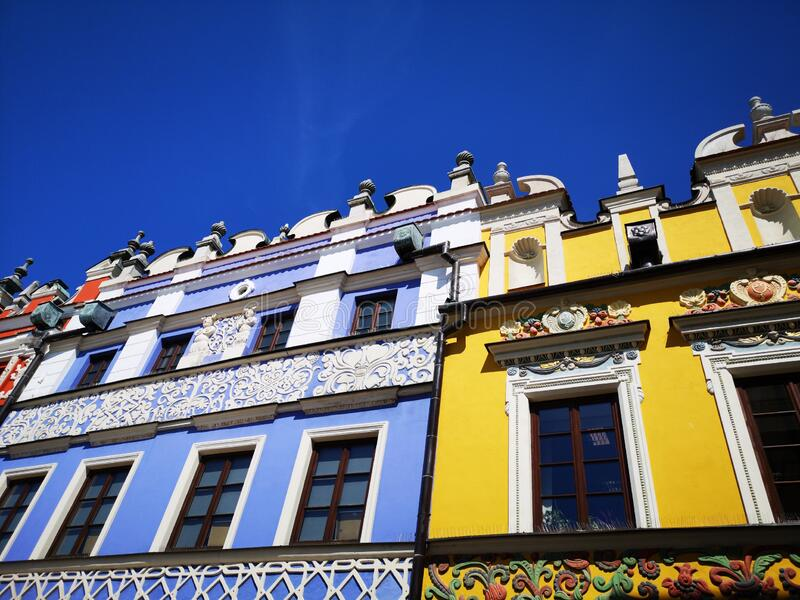 Zamosc City in Poland stock photos