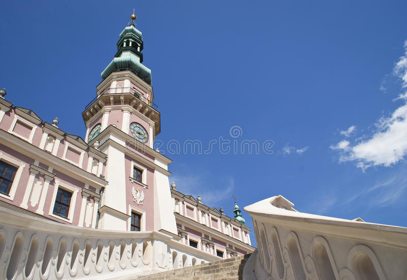 Zamosc, Poland, town-hall stock photography