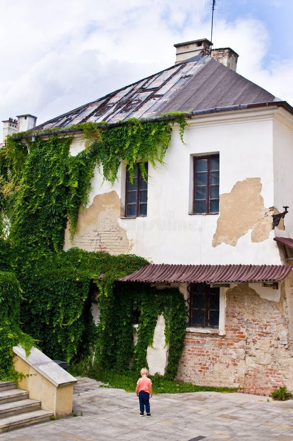 Zamosc Polen, Juli 2019, oude stadsarchitectuur royalty-vrije stock fotografie