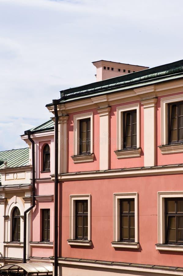 Zamosc Polen, Juli 2019, oude stadsarchitectuur royalty-vrije stock foto