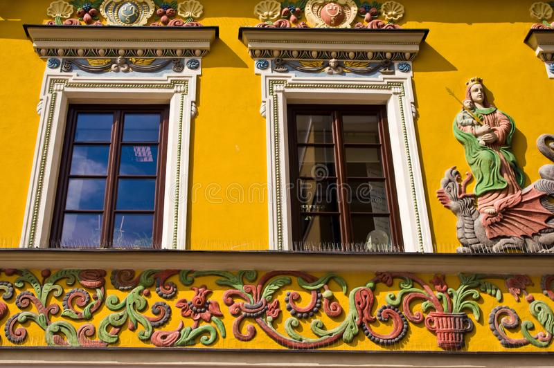 Zamosc Polen, Juli 2019, oude stadsarchitectuur stock foto's