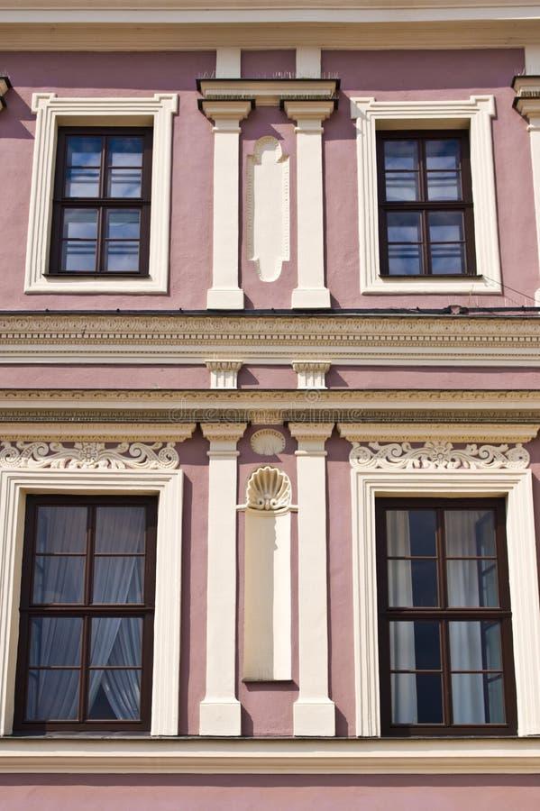 Zamosc Polonia, luglio 2019, vecchia architettura della città fotografie stock